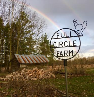 Barn logo rainbow